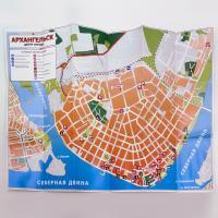 Карта-схема Архангельск